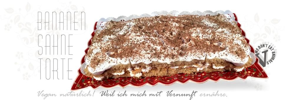 Vegan Torte Bananentorte Rezept Mit Dinkel Biskuitteig